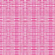 M Makower Stitch Check - 3437 - Contemporary Checked Blender, Pink - 5622 P35 - Cotton Fabric